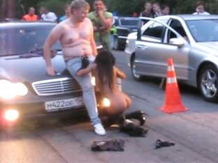 Crazy Amateur record with Brunette, Russian scenes