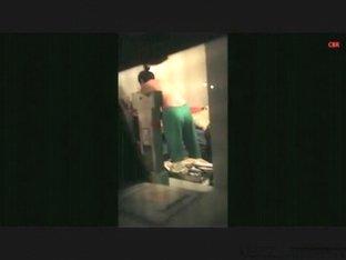 Voyeur tapes the neighbor girl doing squats naked