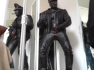 leather biker masked cigare smoke and poppers