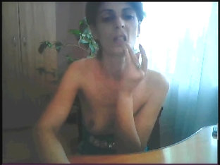 Showing my small tits on a webcam