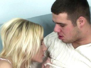 Horny pornstar Justine Ashley in amazing cunnilingus, blonde adult scene