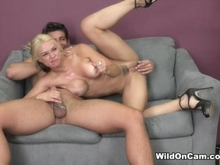 Exotic pornstars Jay Smooth, Sarah Vandella in Hottest Fake Tits, Facial sex scene