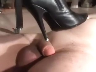 Leather boots torture trampling