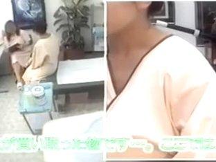 Cute Jap lassie gets some hot massage on hidden camera