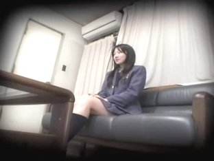Nice looking Jap teen gets heavily crammed in spy cam video