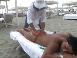 Voyeur Beach Massage Hot Sexy Asses