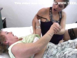 Best pornstar in amazing lingerie, mature adult video