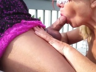 Amateur gulp and ride outside
