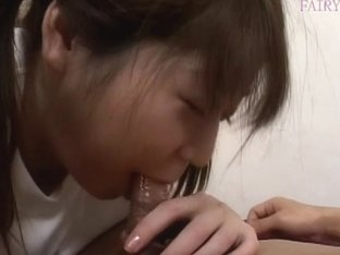 Young Japanese darling grinding over a stud´s stiff man meat
