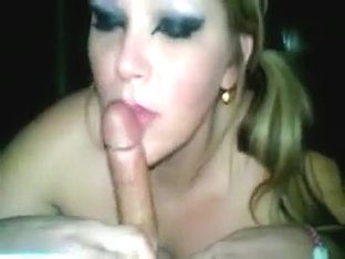 Cum-drinking blonde enjoys swallowing this immense rod of p
