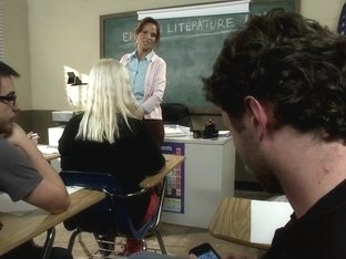 Hot MILF Teacher with Giant Tits Gangbanged by Students Double Anal