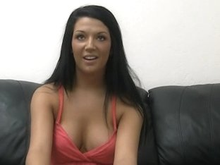 Busty brunette gets creampied by a fake casting agent