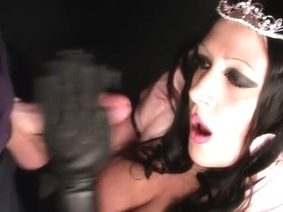 Busty Fetish Princess - Nasty Blowjob Handjob with Latex Gloves - Fuck my Mouth - Cum on my Gloves
