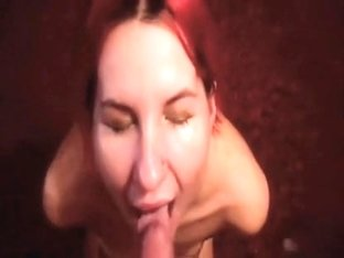 Sucking on a knob and getting facial