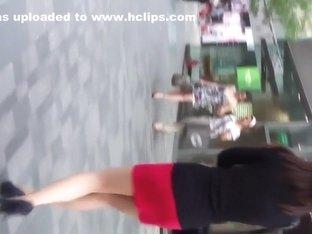 hot girl mini skirt upskirt
