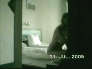 Discreet cocksucking behind a door