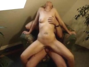 Amateur sex video with a horny wife riding her husband's cock