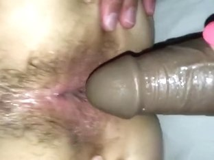 Sissy strapon fucked with BBC using own cum as lube! Sissy needs training!