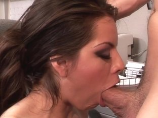 Yurizan Beltran rams this hard dick down her throat