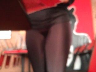 (Blurry sorry) HOTTIE in Leggings see Gallery