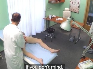Petite patient pussynailed by doctor