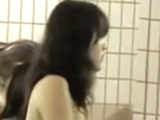 Busty Asian girlfriends spied taking the hot shower
