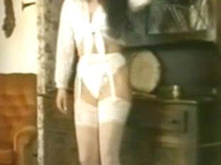 Susanna Francessca white underware striptease