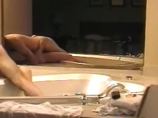 Blonde with hairy pussy has doggystyle sex in the jacuzzi
