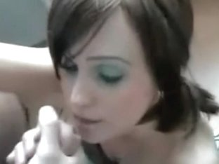 Amateur mouth cumshot
