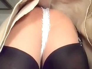 Lace Strap Upskirt