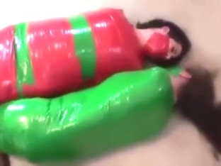 2 girls are mummified