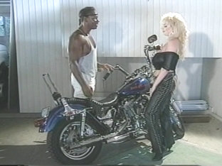 Classical Vintage Blonde Girl Gets Some Interracial Fun