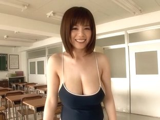 Fabulous Japanese model Aika Suzuki in Horny college, big tits JAV movie