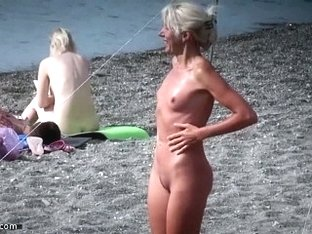 Undressed beach flirting
