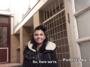 Hungarian amateur from public banged