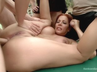 Hot latina milf in a steamy tennis-court take-down!