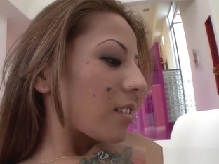 StepSiblings Tattooed babe licks latin pussy