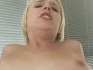 Blond sweetheart removes hawt pants for darksome penetration on sofa