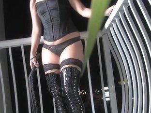Asian mistress spanks a brunette