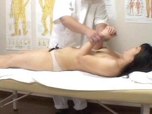 Hottie with shaved vagina massaged on a voyeur camera