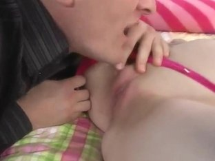 Teen Bridges gets her young pussy licked by Clark Kent