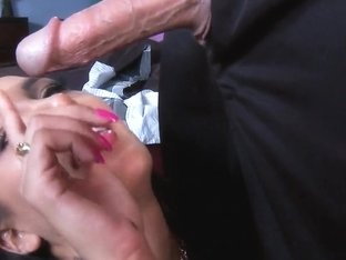 Sexy Amia feeling that long police stick