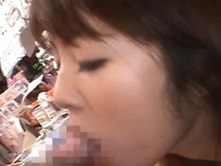 Miku Ohashi Hot Asian model has sex in an adult store