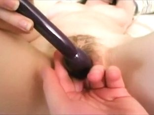 Teasing her trimmed beaver with joy
