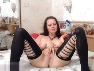 Anje1lika spread her legs and caresses her pussy