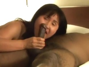 Oriental Mother I'd Like To Fuck acquires screwed by 2 darksome men.