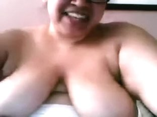 Lascivious large agreeable mother Latin Honey dildos her loose fur pie with fake schlong