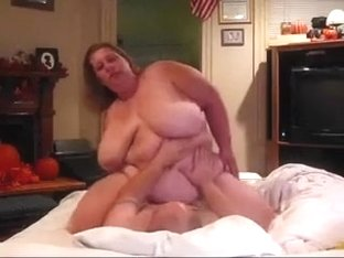 Slutty chubby bitch rides my unyielding wang in cowgirl position
