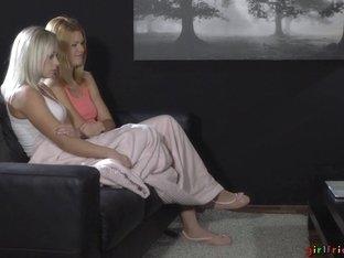 Amazing pornstars Izzy Delphine, Silvie Luca in Hottest Lesbian, Romantic porn scene
