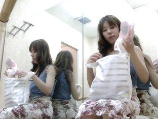 Cute ballet dancer bared off her petite body on hidden cam